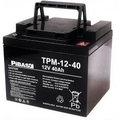 12 V 40 Ah Vlies AGM Blei-Batterie-Akku TPM-12-40