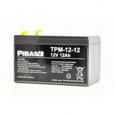 12 V 12 Ah Vlies AGM Blei-Batterie-Akku TPM-12-12